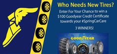 $100 Goodyear #SpringCarCare Credit Giveaway