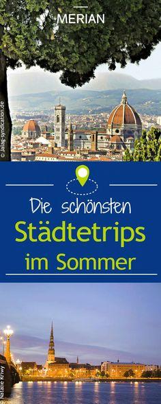 Laue und lange Nächte in heißen Gassen, Kunst und Kultur auf sonnigen Plätzen: Der Sommer ist die beste Zeit für Städtereisen. Wir zeigen euch das bunte – und schön günstige – Leben in sechs europäischen Sehnsuchtsorten.