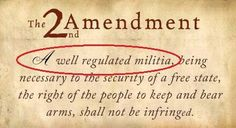 That little phrase at the beginning of the 2nd Amendment that the gun nuts try to ignore...