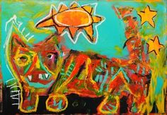 What a Lot of Trouble I've Made, Painting by Mikey Welsh