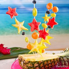 Bring out the stars! These fun fruit skewers look as great as they taste, and they don't take long to prepare! Click to learn how!