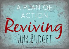 Are you off track with your budget? Make a plan of action to get back on track and feel in control of your money again.