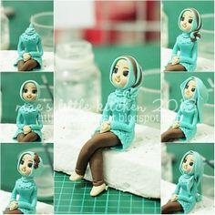 Tutor 2 : how to put hijab on fondant figurine
