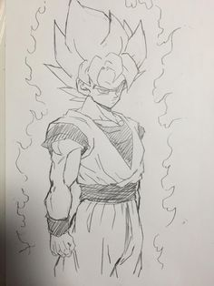 """ Drawn by me! Usually I don't draw hands very well. I know it's a little small here but I'm still learning proper proportions. Goku Drawing, Ball Drawing, Dragon Ball Image, Dragon Ball Gt, Anime Drawings Sketches, Anime Sketch, Fotos Do Dragon Ball, Super Manga, Animes Wallpapers"