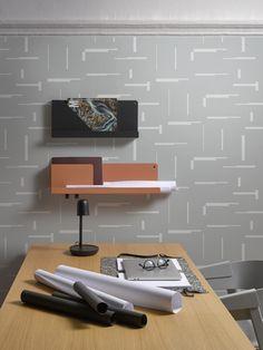 Tapeta Gap grey   LAVMI Funky Wallpaper, Floating Shelves, Gap, The Originals, Home Decor, Decoration Home, Room Decor, Wall Shelves, Home Interior Design