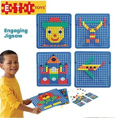 ETI Toys - Engaging Jigsaw Puzzle for Boys and Girls 490 Piece Set for Making Endless Puzzle Combinations! Great for Learning, Developing and Having Fun. Make Your Imagination Today! Educational Toys For Kids, Kids Toys, Teamwork And Collaboration, Cool Tech Gadgets, Stem Learning, How To Make Toys, Only Play, Thing 1, Creative Skills