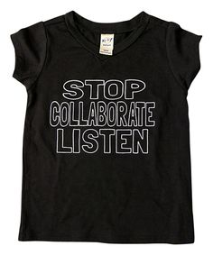 Loving this Cents of Style Black 'Collaborate' V-Neck Tee - Infant, Toddler & Kids on #zulily! #zulilyfinds