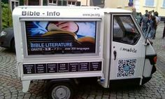 "Germany - Instead of the ice-cream truck, it's the ""spiritual food"" truck. :)"