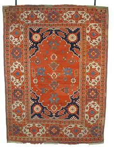 So-called TRANSYLVANIAN rug of the 'double niche' type, 17th century.  Woven in northwestern Anatolia (probably the Bergama erea).  Wool on wool, 127 x 175.5 cm (Met Museum, N.Y.).