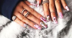 Kylie Jenner Rocks Crazy Barbie Nails, Lots of Diamond Rings - Us Weekly