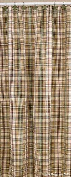 Cabin Thyme Plaid Shower Curtain