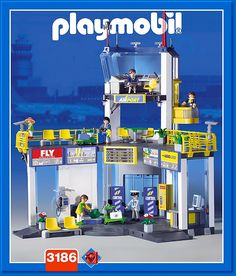 PLAYMOBIL� set #3186 - Airport with control tower