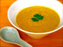 Raw Carrot Ginger Soup - it was surprisingly good, but I left out the cilantro and green onions.