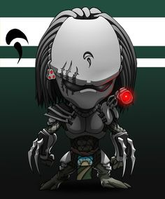 """Pin 35.   Associating pin 33.   A pin made by inspiration of a Pinterest news feed """"Picked for you"""" pin.   2920 Chiby Predator by Spoon02 on DeviantArt.   Pinned time: 20160415 16:38:50 Taipei time.   #Chibi(二頭身) #Imagery #Fantasy"""