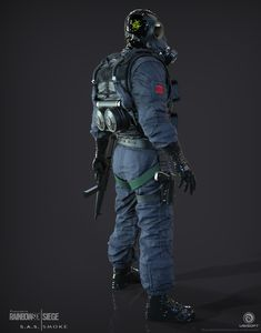 ArtStation - Smoke   SAS   Rainbow 6 Siege, J. Mark