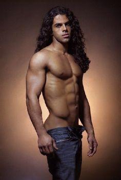 Nude men long hair