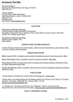 UC SAN DIEGO CV EXAMPLE FOR UNDERGRADUATE STUDENTS