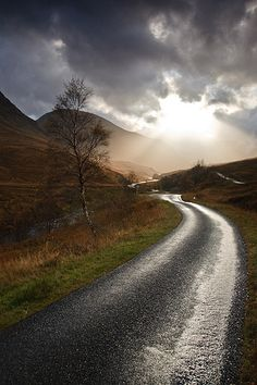 Home is not where you are born; home is where all your attempts to escape cease. ~ Naguib Mahfouz, (image: Glen Etive, Scotland)
