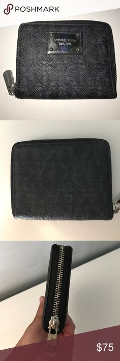 Michael Kors Wallet Authentic Michael Kors Wallet - all black zippy wallet - credit card slots with pocket for coins --- like new - used few times - Michael Kors Bags Wallets