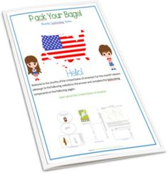 Pack Your Bags! And follow me to the United States {Pack Your Bags! lapbook series}
