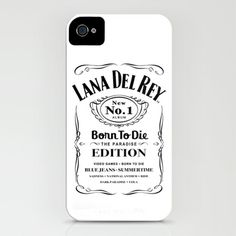 Lana Whiskey Del Rey Jack Daniels Black iPhone & iPod Case