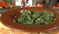 Toasted Sesame Seed Spinach - Food & Recipes - P. Allen Smith Garden Home - MasterCook