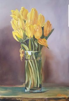 #Tulpen #Blumen #Malerei #ölmalerei ##contemporaryart Create Yourself, Etsy Seller, Creative, Painting, Art, Tulips Flowers, Painted Canvas, Painting Art, Paintings