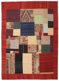Kelim Patchwork tapijt 411x295    Tapijt ID:ABL14  Ook bekend als:Kilim, Qilim, Chilim  Fabricage: handgeweven  Afmetingen:411x295 cm *  Dikte ongeveer:5 mm  €1221