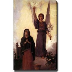 """William-Adolphe Bouguereau 'The Annunciation' Giclee' Canvas Art Museum Wrapped -30""""H x 20""""W -"""