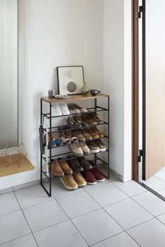 Shoe Rack Steel, Metal Shoe Rack, Steel Shoes, Shoe Rack Closet, Diy Shoe Rack, Shoe Racks For Closets, Shoe Rack Target, Shoe Rack Bedroom, Garage Shoe Rack