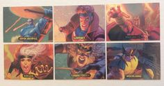 Cards Marvel Masterpieces 1994 Powerblast 1 5 6 7 8 9 x Men Wolverine | eBay