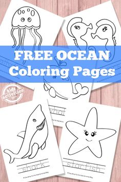 Ocean Coloring Pages {Free Printable} - ocean unit Ocean Coloring Pages, Coloring Pages For Kids, Fairy Coloring, Kids Coloring, Mandala Coloring, Coloring Sheets, Free Coloring, Adult Coloring, Coloring Books