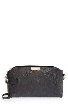 Burberry Burberry 'Small Chichester' Check Embossed Leather Crossbody Bag available at #Nordstrom