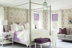 mint green and lilac bedrooms   ... butterflies surround this charming gray, lavender and mint green room