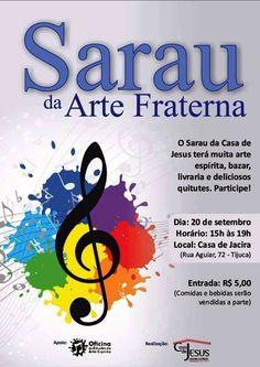 Sarau da Arte Fraterna - Tijuca - RJ - http://www.agendaespiritabrasil.com.br/2015/09/20/sarau-da-arte-fraterna-tijuca-rj/