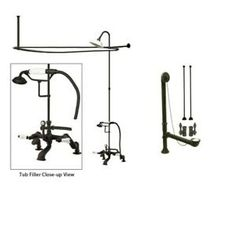 Clawfoot Tub Faucets With Shower Details About Oil Rubbed Bronze Clawfoot Tub Faucet Shower Kit Enclosure Rod 653t5cts Details About Chrome Clawfoot Tub Faucet Shower Kit With Enclosure Curtain Rod 22t1cts Clawfoot Tub Faucet Deck Mount Handheld Shower Chrome Renovator S Supply Pegasus 2 Handle Claw Foot Tub Faucet With Riser Showerhead And Shower Ring In Polished Chrome Kingston Brass Satin Nickel Clawfoot Tub Faucet Shower Combination Cck2668 Aqua Vintage Ae560t1 Wall Mount Clawfoot Tub Faucet Clawfoot Tub Shower, Shower Faucet Sets, Shower Fixtures, Brass Bathroom Faucets, Claw Foot Bath, Best Faucet, Wall Mount Faucet, Shower Kits, Shower Curtain Rods