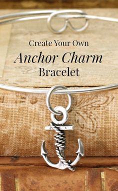 Love this simple DIY anchor bracelet. Would be a great gift for my sister.