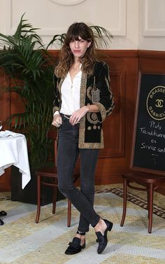 Lou Doillon in Chanel shoes