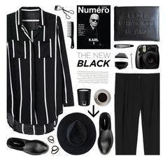 """black"" by jesuisunlapin ❤ liked on Polyvore featuring Topshop, Monki, Miu Miu, Pantone, Bobbi Brown Cosmetics, Bunn, H&M, Ryan Roche, BOBBY and black"