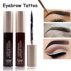 Professional Eyebrow Tint Paint Waterproof Branded Make Up Pigment Brown Black Liquid Eyebrow Tattoo Miss Rose Makeup //Price: $8.99 & FREE Shipping //     #VAPE
