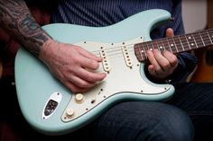 Just landed! Hand picked #fendercustomshop 1960's #Stratocaster Aged Daphne Blue Yuriy Shishkov Master Built #fender