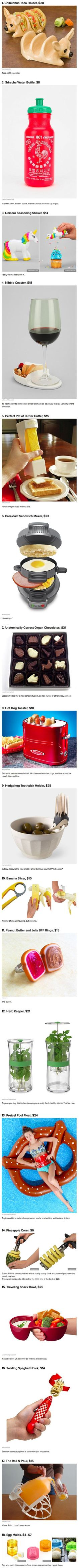 We have rounded up some cool gadgets and accessories for geeky food lovers.