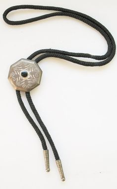 VTG Etched Metal Charm American Bolo Tie by SweetHeirlooms on Etsy