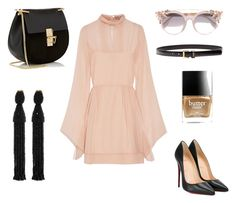"""""""Oh, New York! ❤️"""" by mazekin on Polyvore featuring Emilio Pucci, Christian Louboutin, Chloé, Jimmy Choo, Oscar de la Renta, Yves Saint Laurent and Butter London"""