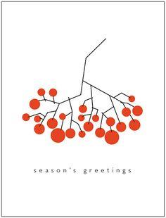 Rowan by suzy_yes (Maria Zaikina) Christmas Graphics, Diy Christmas Cards, Christmas Design, Xmas Cards, Christmas Art, Vintage Christmas, Holiday Cards, Diy Screen Printing, Christmas Illustration