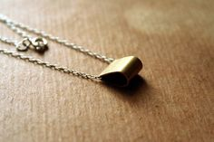 brass & sterling necklace