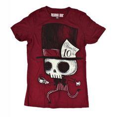 Mad Hatter girls T-shirt red - Akumu (Attitude Holland) AWESOME