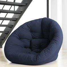 Alternative to the bean bag. Nest Navy furniture, blue, lounge chairs. This one is $$$, possibly find similar for less