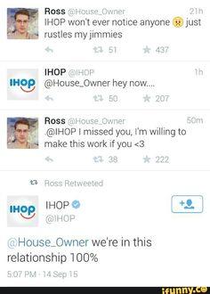 Ross IHOP is lying