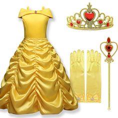 costume Principessa Belle de La Bella e la Bestia Disney vestito maschera  carnevale travestimento bambina be20e337e61